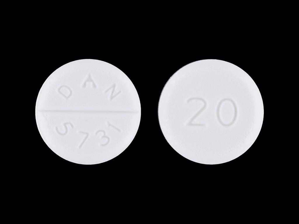 Imprint 20 DAN 5731 - baclofen 20 mg