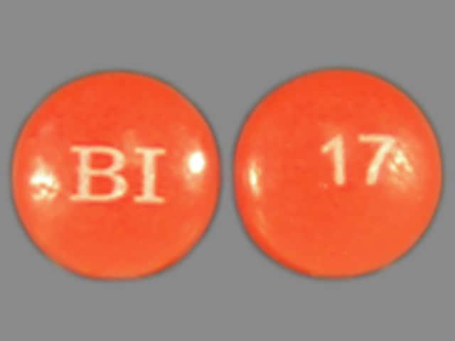 Imprint BI 17 - Persantine 25 mg