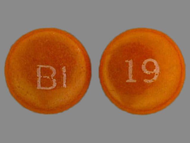 Imprint BI 19 - Persantine 75 mg