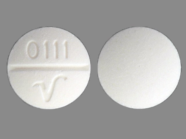 Imprint 0111 V - dimenhydrinate 50 mg