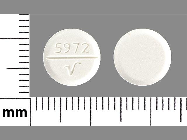Imprint 5972 V - trihexyphenidyl 5 mg