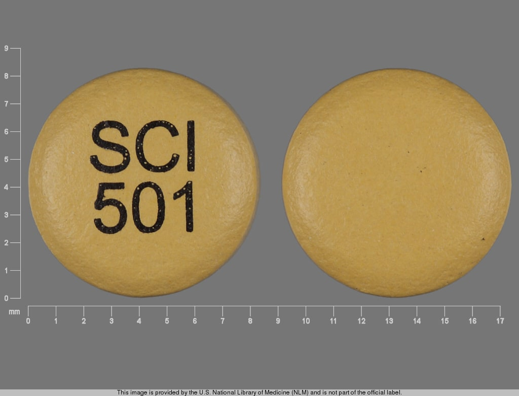 Imprint SCI 501 - nisoldipine 17 mg