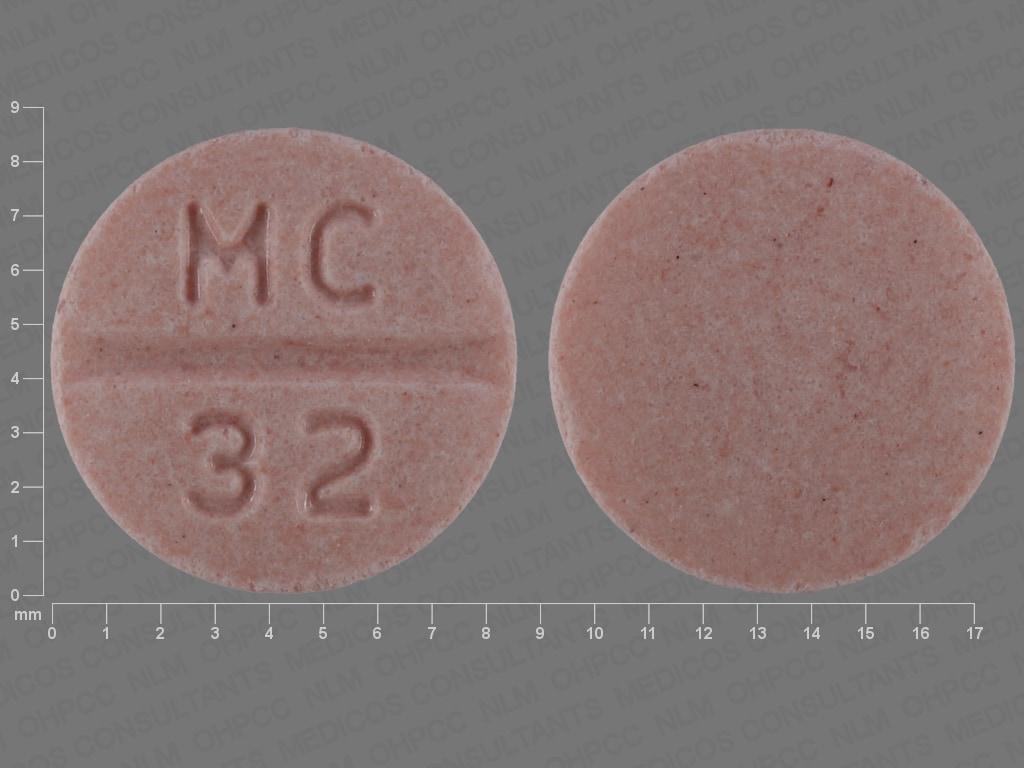 Imprint MC 32 - candesartan 32 mg
