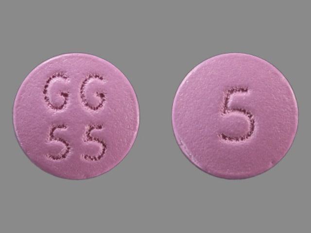 Imprint GG 55 5 - trifluoperazine 5 mg