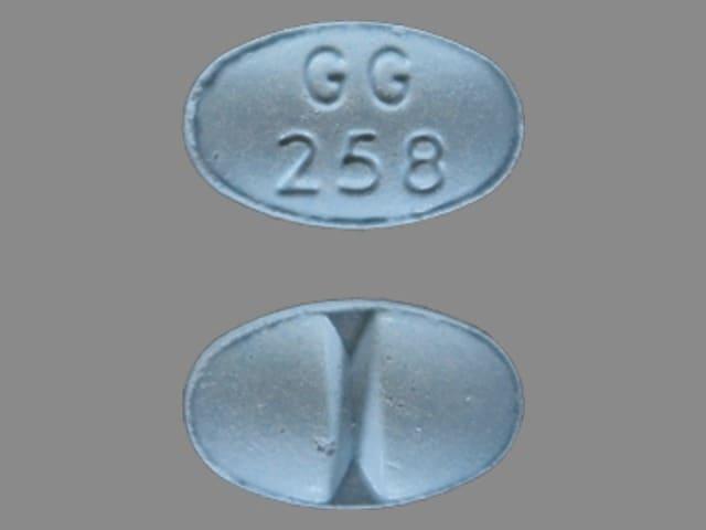 Imprint GG 258 - alprazolam 1 mg