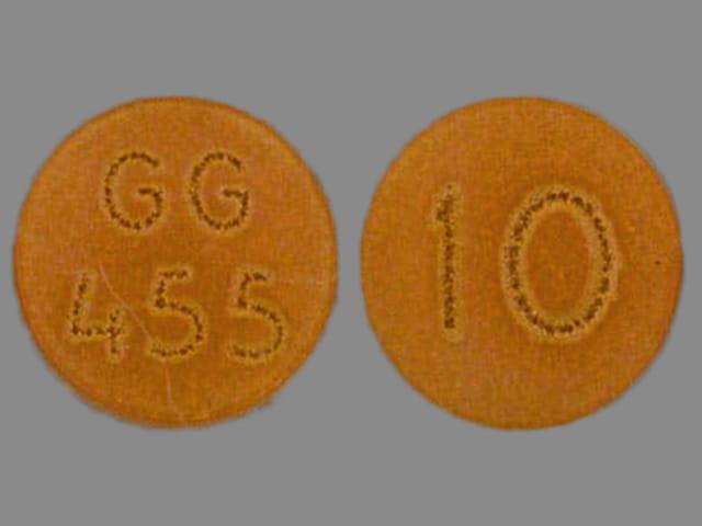Imprint GG 455 10 - chlorpromazine 10 mg