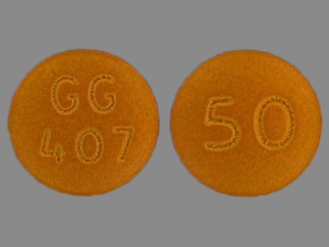 Imprint GG 407 50 - chlorpromazine 50 mg