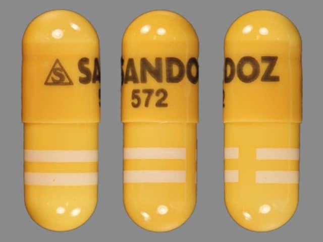 Imprint S SANDOZ 572 - amlodipine/benazepril 5 mg / 10 mg
