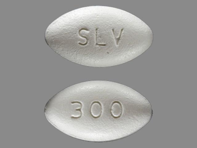 Imprint SLV 300 - Gralise 300 mg