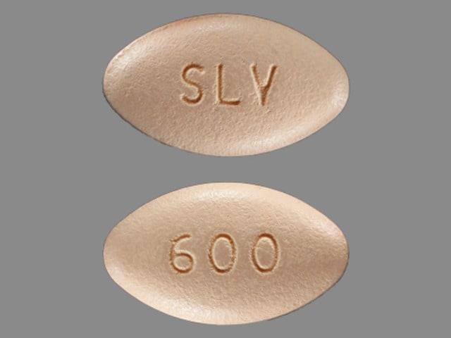 Imprint SLV 600 - Gralise 600 mg