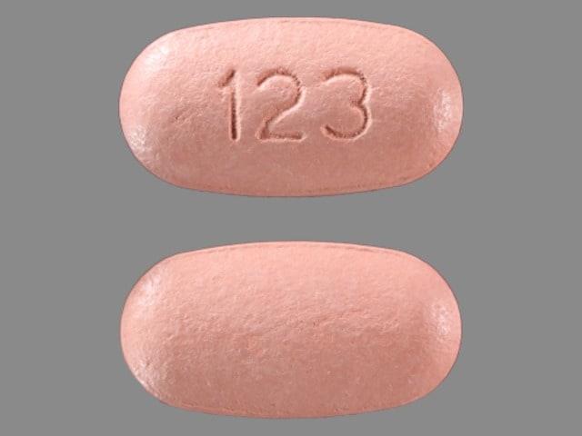 Imprint 123 - Atripla efavirenz 600mg /  emtricitabine 200mg / tenofovir disoproxil fumarate 300mg
