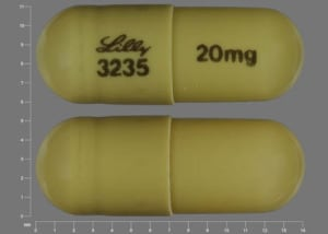Imprint Lilly 3235 20 mg - Cymbalta 20 mg