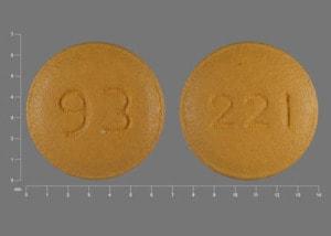 Imprint 93 221 - risperidone 0.25 mg