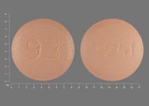 Imprint 93 7241 - risperidone 2 mg