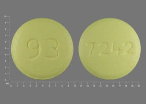 Imprint 93 7242 - risperidone 3 mg