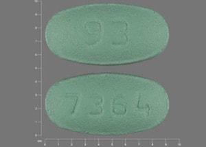 Imprint 93 7364 - losartan 25 mg
