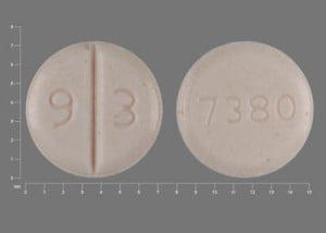 Imprint 9 3 7380 - venlafaxine 37.5 mg