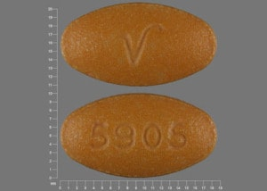 Imprint V 5905 - sulfasalazine 500 mg