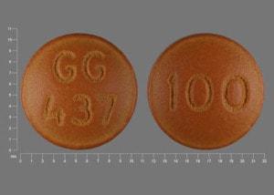 Imprint GG 437 100 - chlorpromazine 100 mg