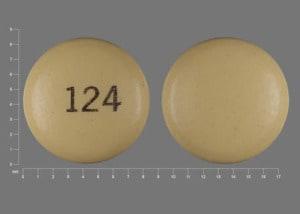 Imprint 124 - pantoprazole 40 mg