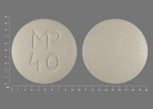 Imprint MP 40 - hydrochlorothiazide/spironolactone 25 mg / 25 mg