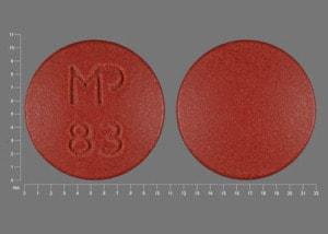 Imprint MP 83 - nystatin 500,000 units