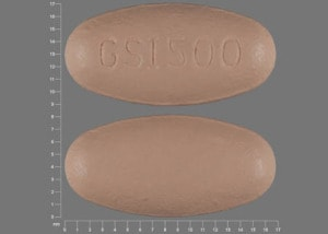 Imprint GSI500 - Ranexa 500 mg