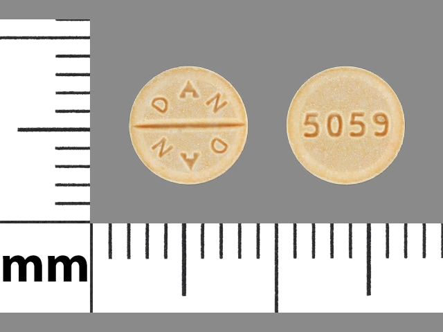 Imprint DAN DAN 5059 - Millipred 5 mg