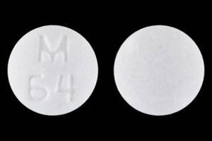 Imprint M 64 - atenolol/chlorthalidone 100 mg / 25 mg