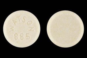 Imprint WATSON 885 - lisinopril 30 mg