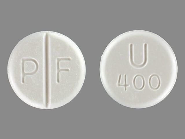 Image 1 - Imprint P F U 400 - Uniphyl 400 mg