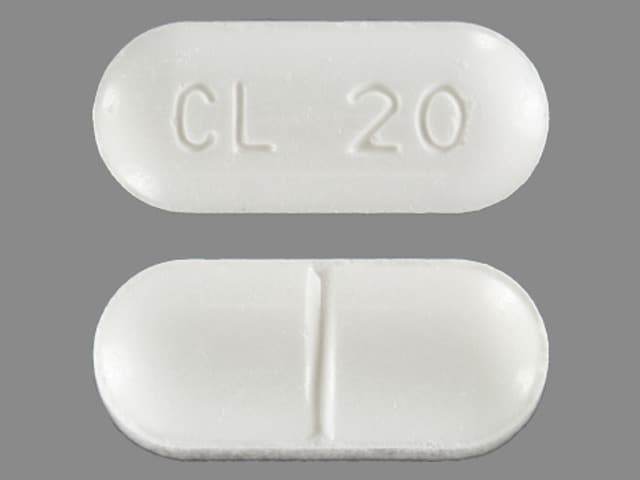 Imprint CL 20 - methenamine 1 gram