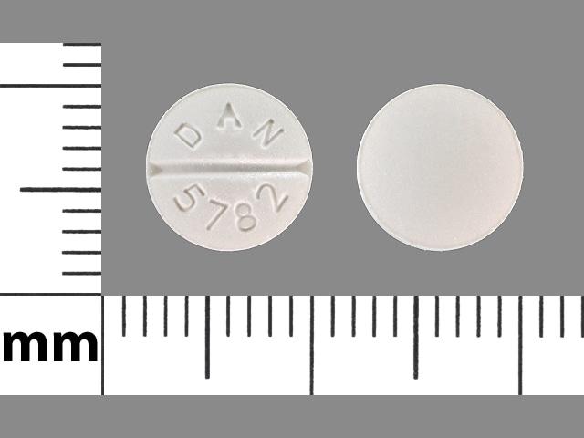 Imprint DAN 5782 - atenolol/chlorthalidone 50 mg / 25 mg