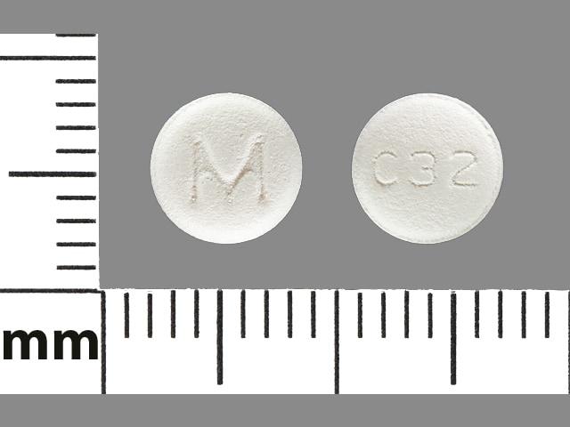 Imprint M C32 - carvedilol 6.25 mg
