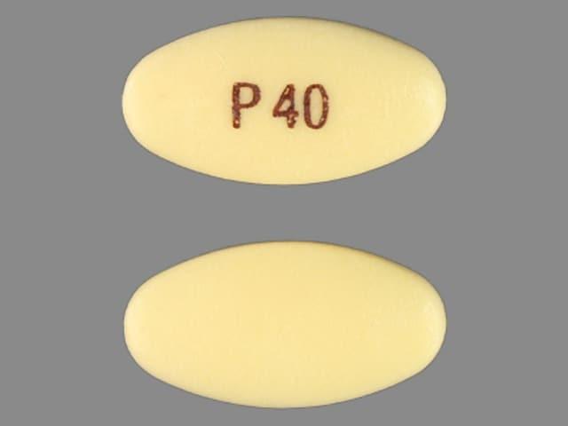 Imprint P40 - pantoprazole 40 mg