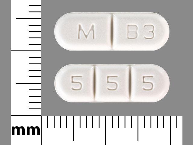 Imprint M B3 5 5 5 - buspirone 15 mg