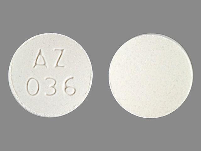 Imprint AZ 036 - calcium carbonate 420 mg