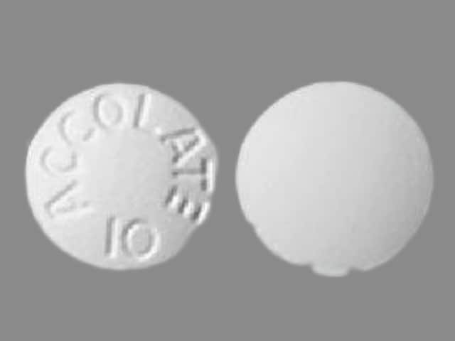 Imprint ACCOLATE 10 - zafirlukast 10 mg