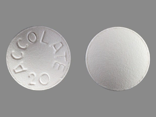 Imprint ACCOLATE 20 - zafirlukast 20 mg