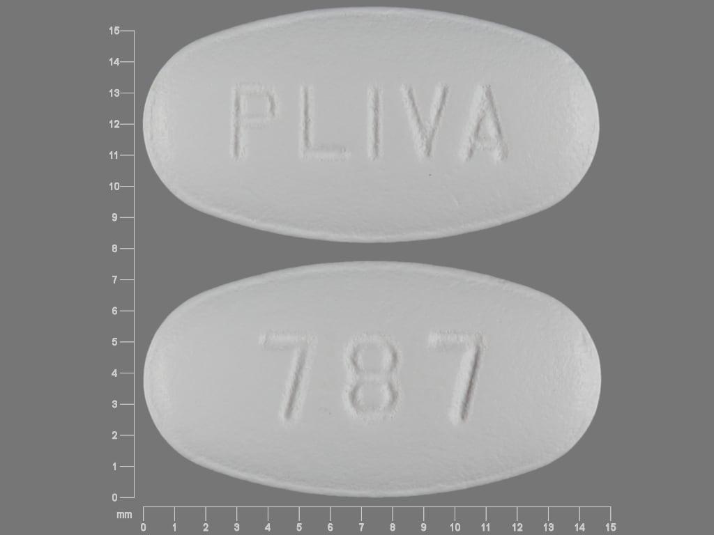 Imprint PLIVA 787 - azithromycin 250 mg