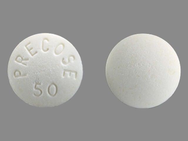 Imprint PRECOSE 50 - Precose 50 mg