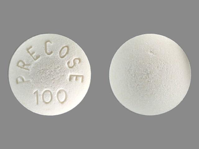 Imprint PRECOSE 100 - Precose 100 mg