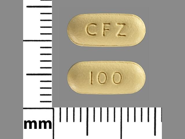 Imprint CFZ 100 - Invokana 100 mg