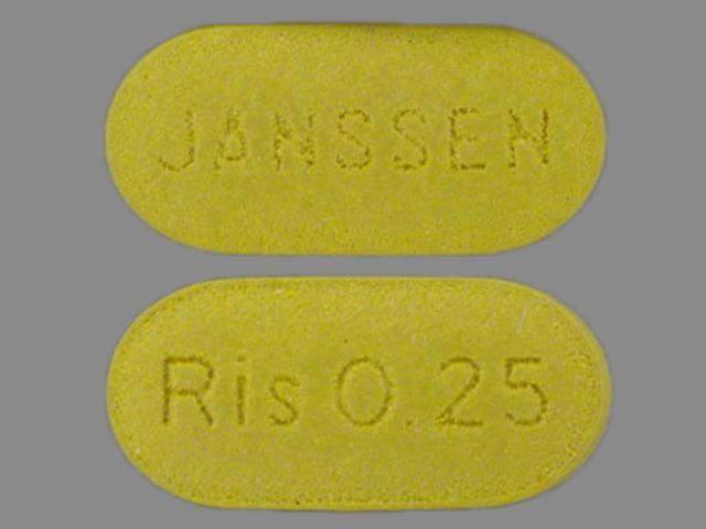 Image 1 - Imprint Ris 0.25 JANSSEN - Risperdal 0.25 mg