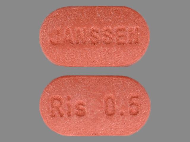 Image 1 - Imprint JANSSEN Ris 0.5 - Risperdal 0.5 mg