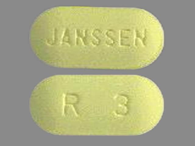 Image 1 - Imprint JANSSEN R 3 - Risperdal 3 mg