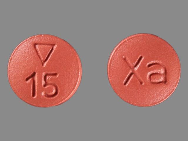 Imprint Logo 15 Xa - Xarelto 15 mg