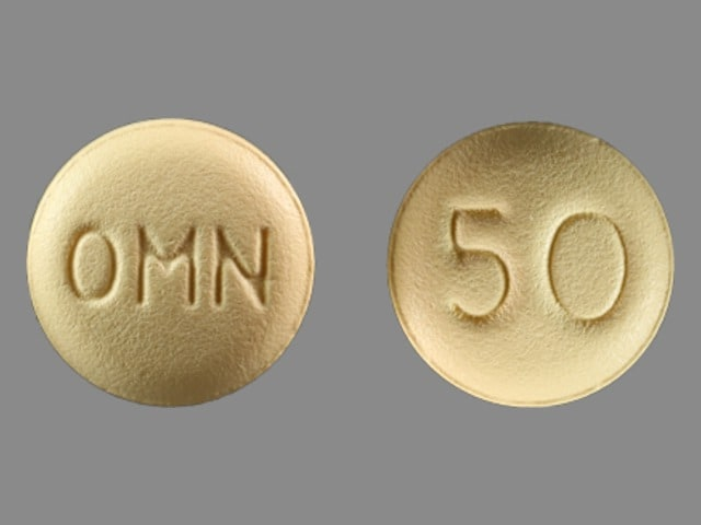 Imprint OMN 50 - Topamax 50 mg