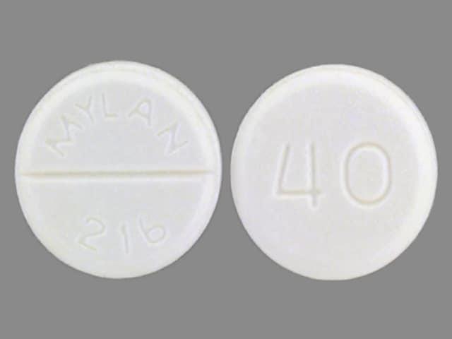 Image 1 - Imprint MYLAN 216 40 - furosemide 40 mg