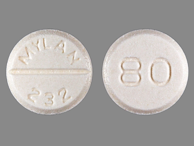 Image 1 - Imprint MYLAN 232 80 - furosemide 80 mg